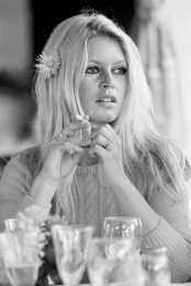 Brigitte Bardot on the set of Shalako 1968